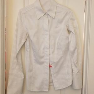 Ann Taylor White Button Down Shirt
